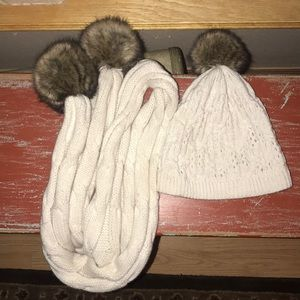 Matching hat and scarf set